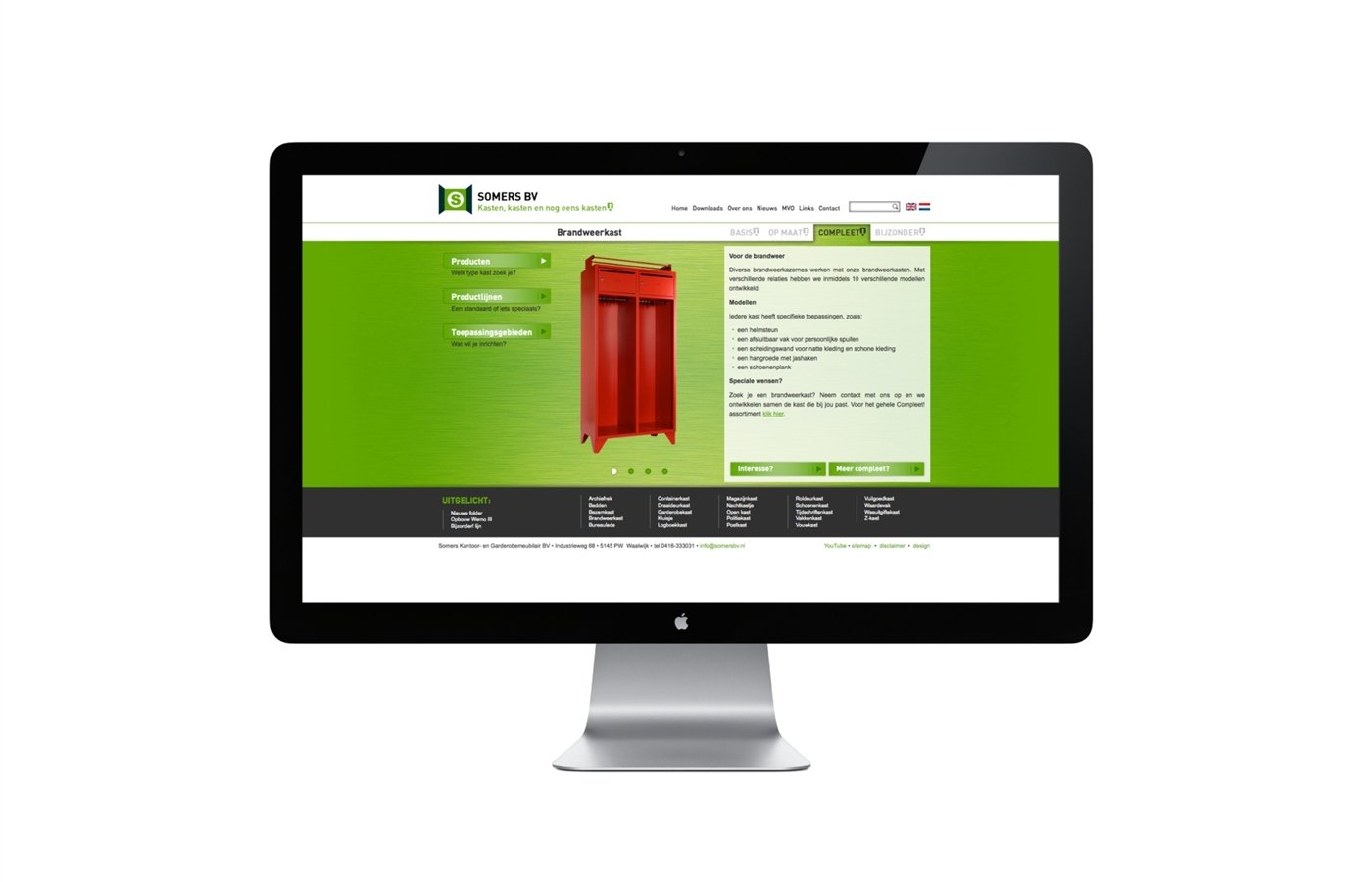 website - Somers BV productpagina