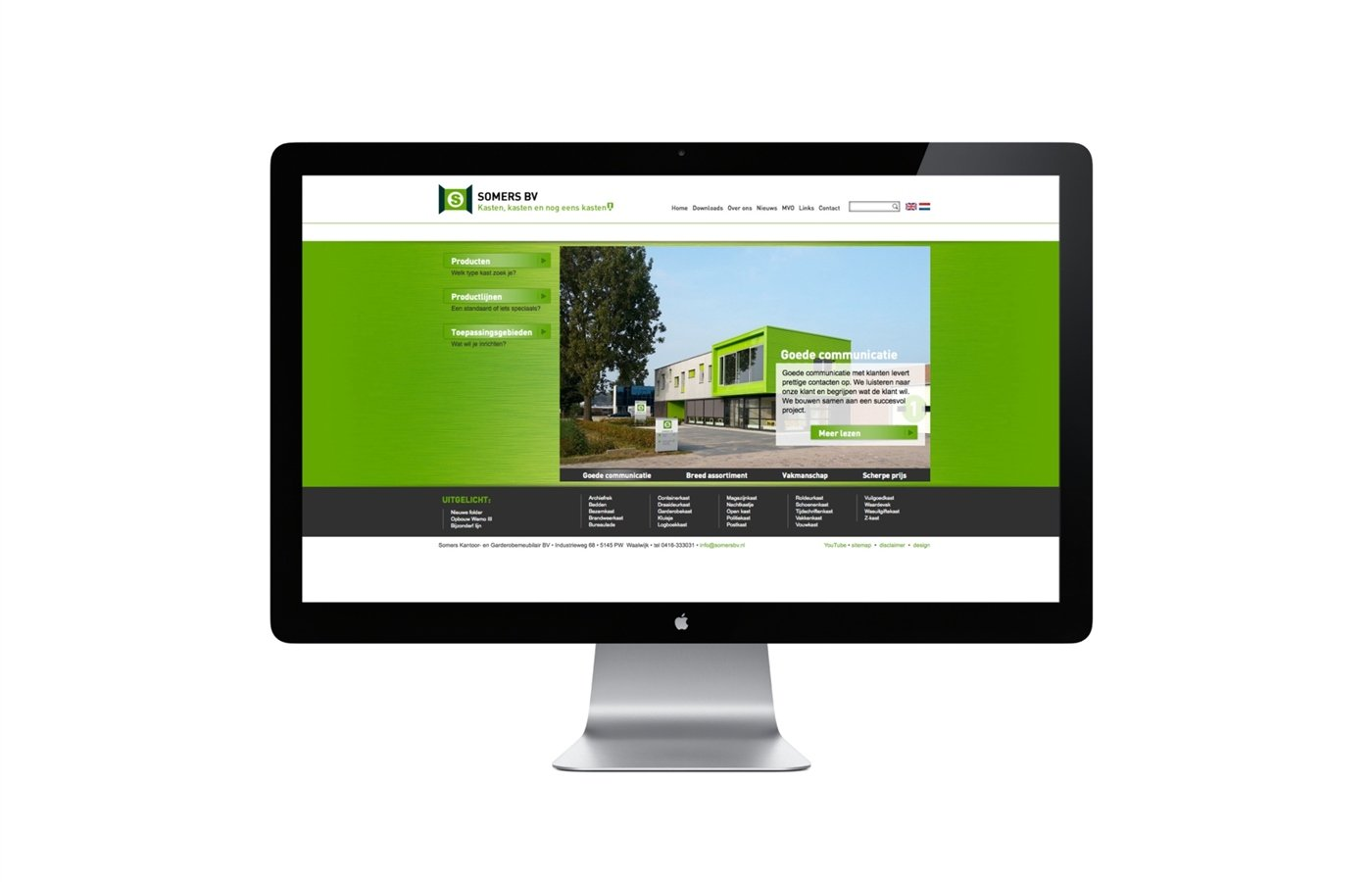 website - Somers BV voorpagina